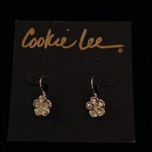 Cookie Lee Crystal Flower Earrings